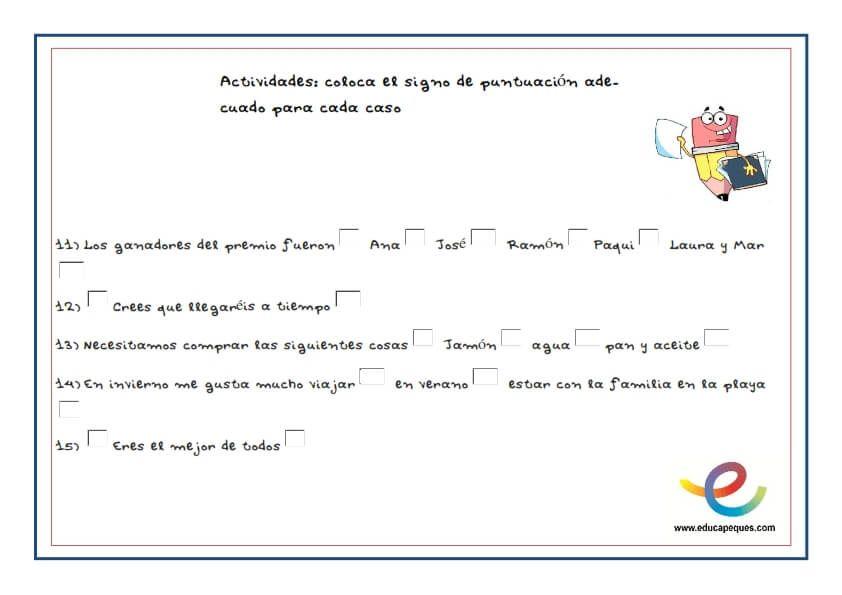 Signos De Puntuacion Para Ninos Signos De Puntuacion Lectura Y Escritura Signos