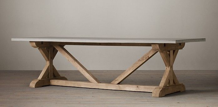 X Base Dining Table With Concrete Slab. Restoration Hardware Puts A $3000  Tag On