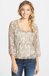 Band of Gypsies Babydoll Peasant Top (Juniors)