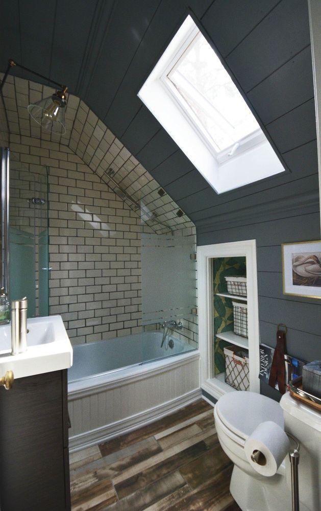 Tiny Attic Bathroom Gets A Diy Update Attic Renovation Attic