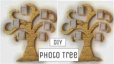 Membuat Kerajinan Tangan Bingkai Foto Dinding Motif Pohon