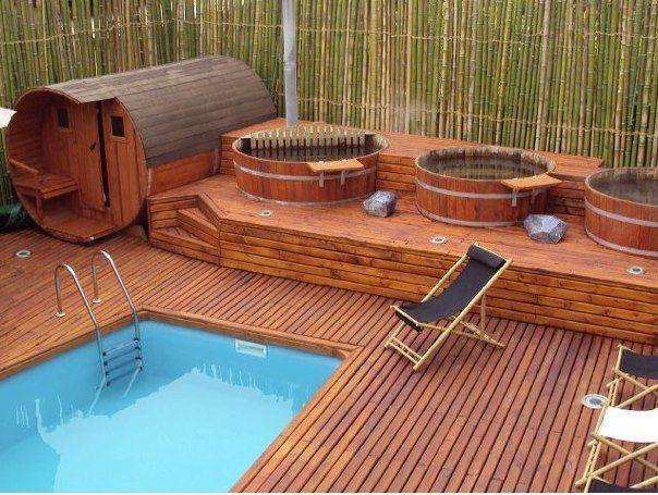 Tinas de madera precios buscar con google huerto y - Jacuzzi para jardin ...