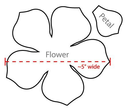 flower petal templates - WOW - Image Results Handmade Flowers - flower petal template
