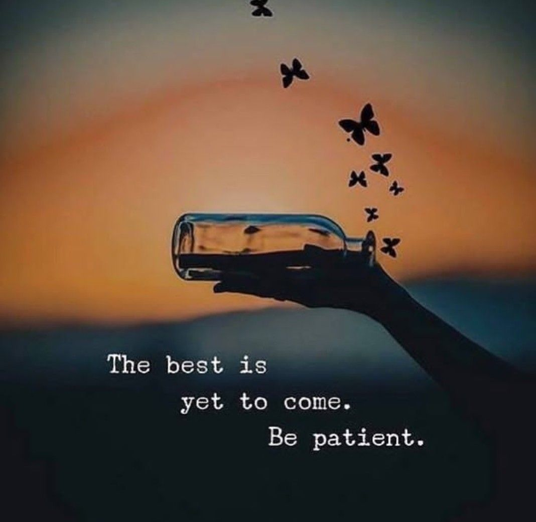 This Reminds Me To Be Patient And Something Amazing Will Happen