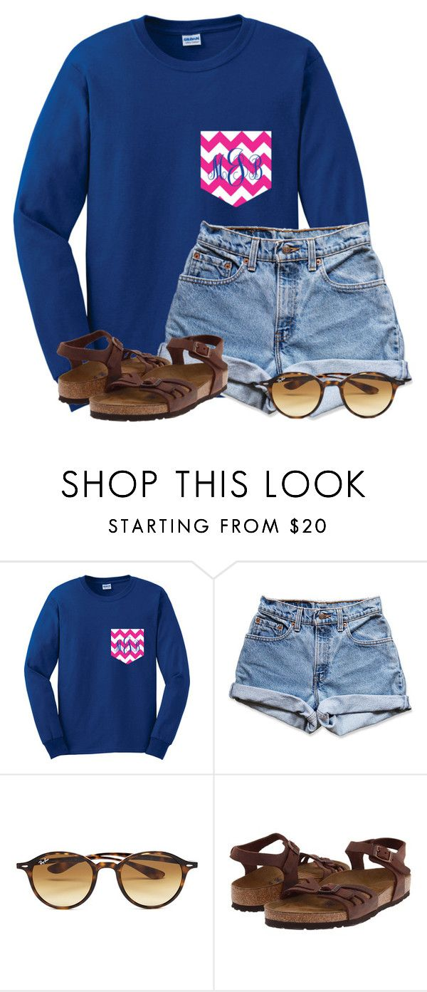 """""""QOTD: What is your favorite flower?"""" by flroasburn on Polyvore featuring Levi's, Ray-Ban and Birkenstock"""