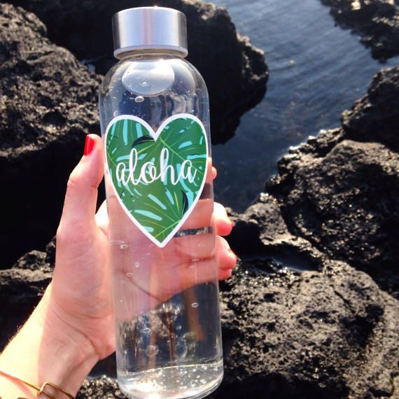 Aloha sticker heart sticker cool stickers hawaii summer 2017 water bottle sticker water bottle laptop sticker vinyl sticker gift for her