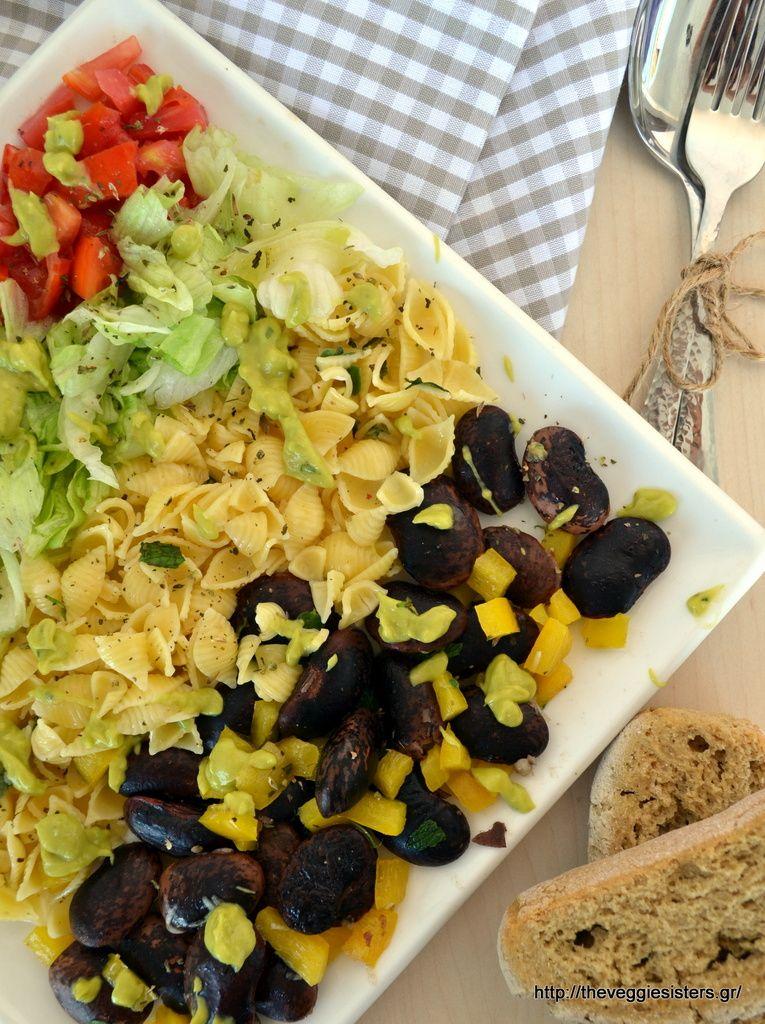 Tasty And Healthy Vegan Lunch Veggieslima Beanspasta