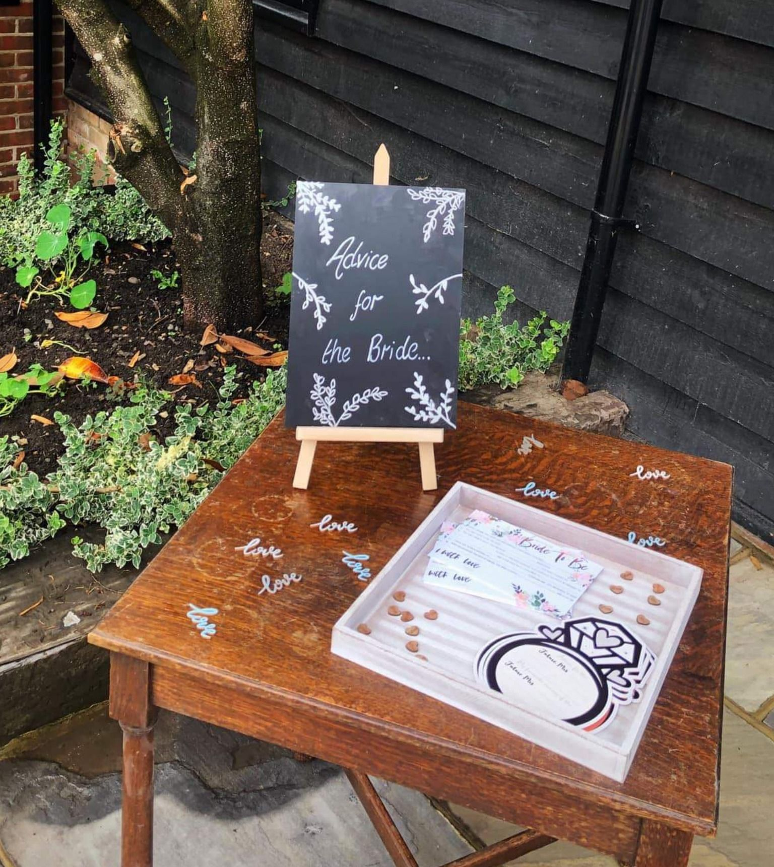 Mini Chalkboard Easel For Tabletop Or Counter With Images