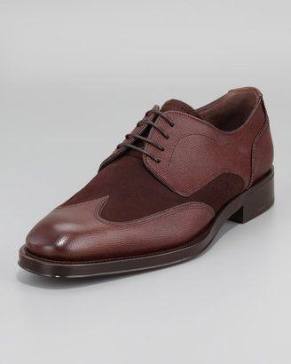 dcbb68a6833fa Salvatore Ferragamo Alicante2 Spectator Wing-Tip shoes $695 | Male ...