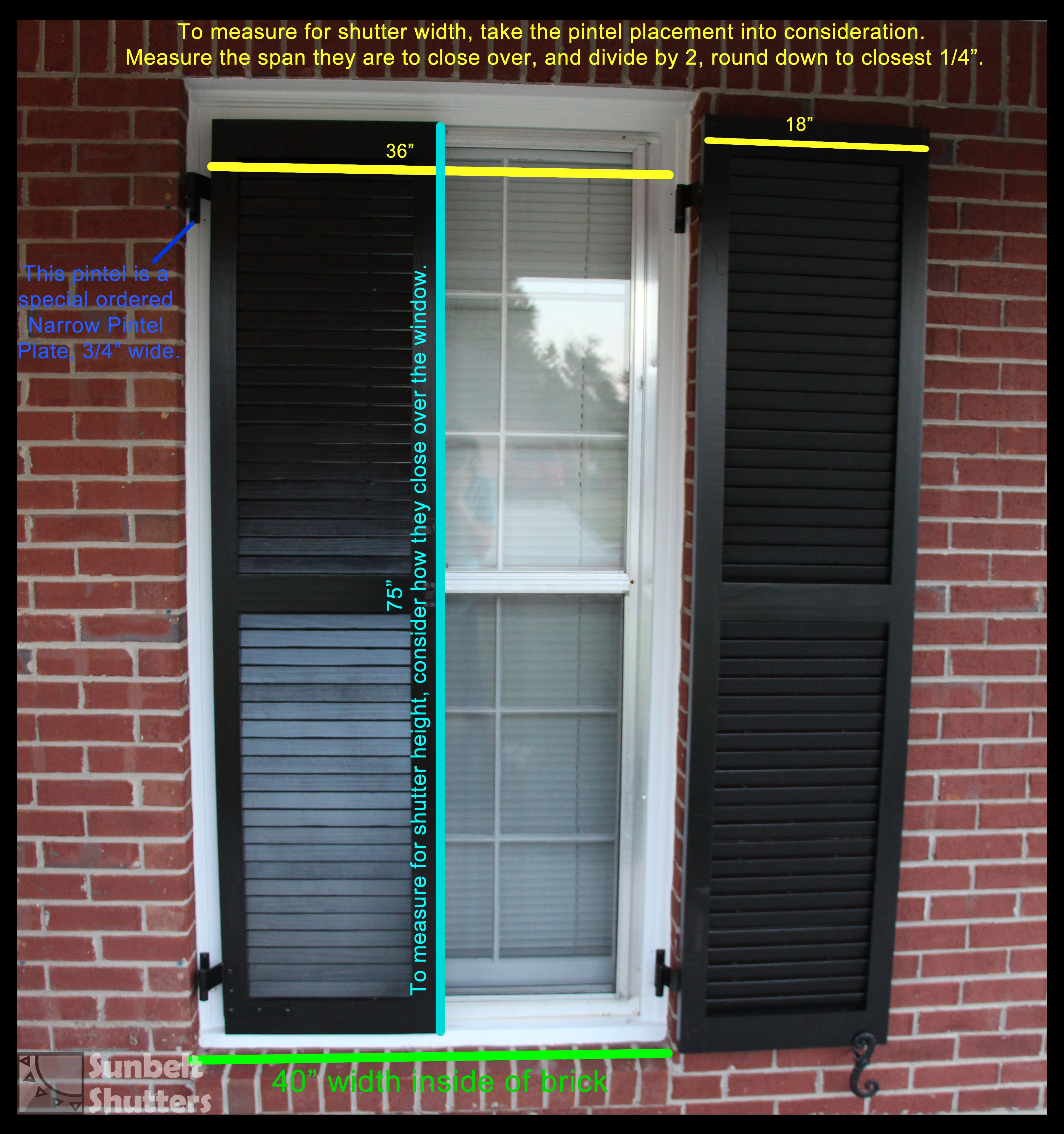 This Example Shows How To Measure For Functional Shutters That