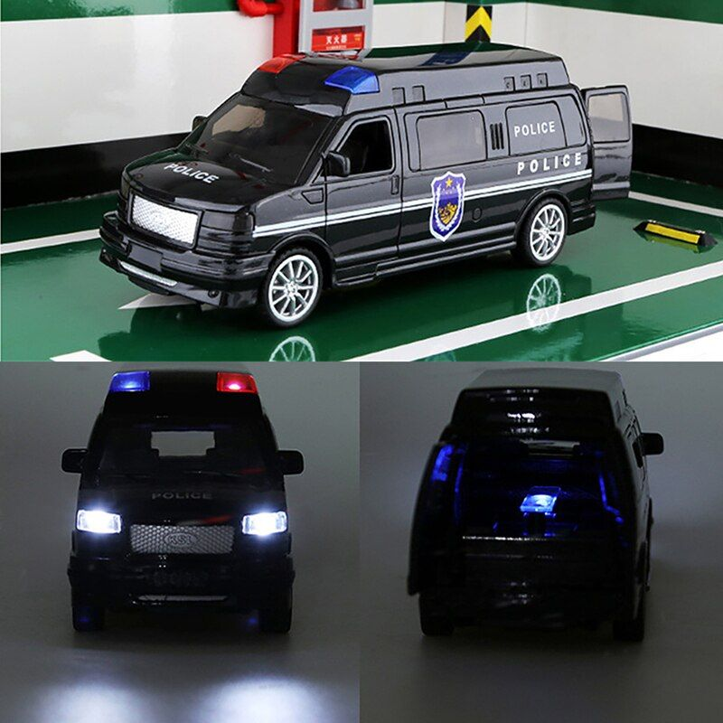Diecast Toy Vehicle Toys 1 32 Ambulance Model Police Toy Car Car Model High Simulation Car Toy Door With Light Music Can Toy Car Police Toys Toy Vehicles