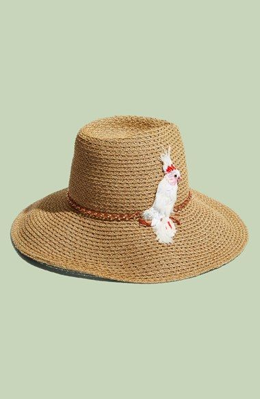 61177d815e696 Eugenia Kim  Emmanuelle  Cockatoo Ornament Straw Hat available at  Nordstrom