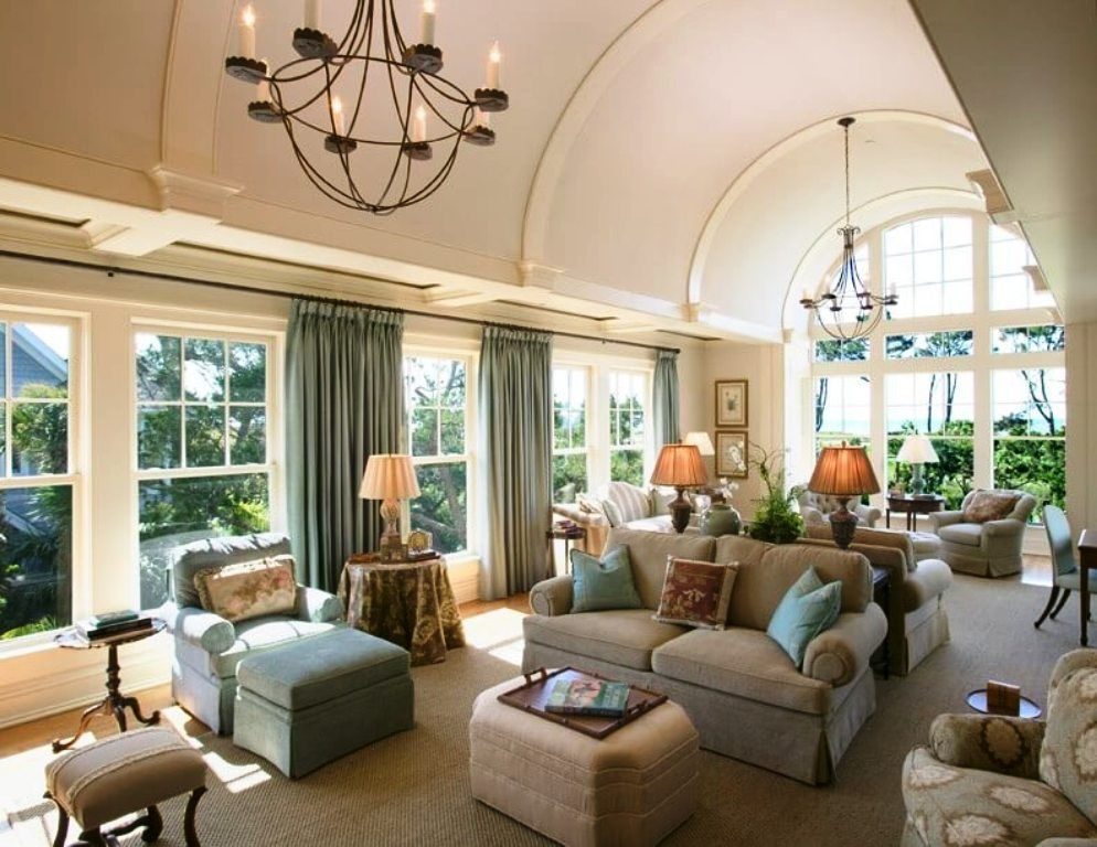 Decorating Large Rectangular Living Room   Rectangular living rooms, Living room ceiling ...