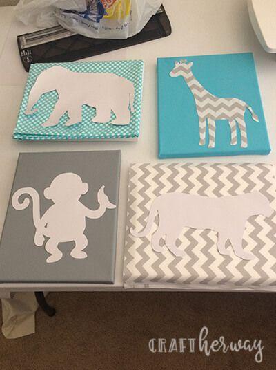 DIY Baby Nursery Wall Art Safari Themed