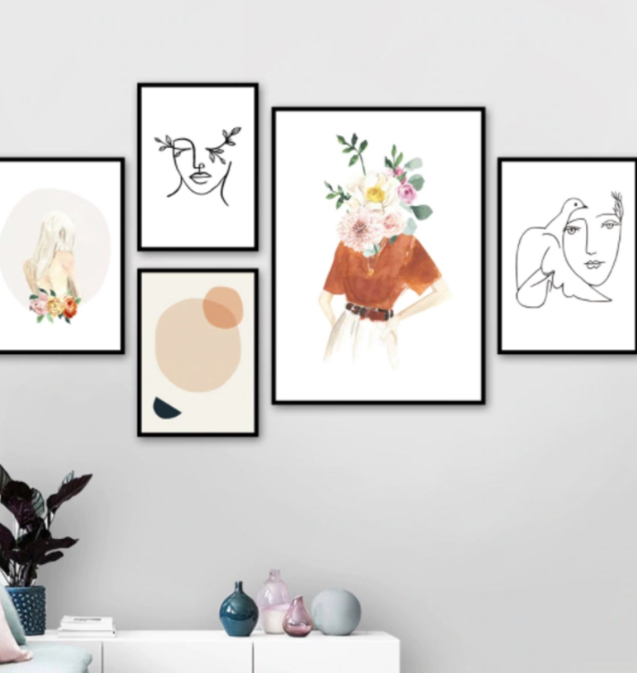 Minimal Divine Feminine Wall Art In 2020 Feminine Wall Art Minimal Wall Art Wall Art