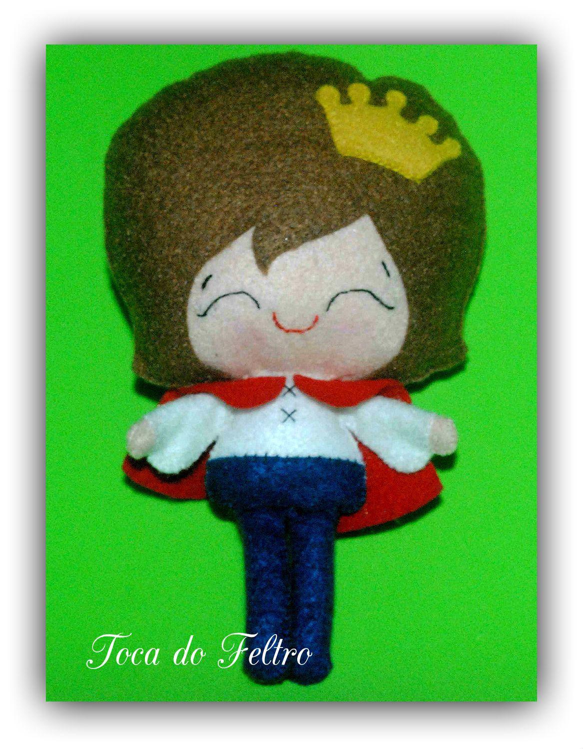 Príncipe, feltro, boneco