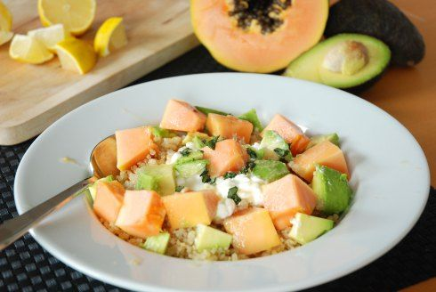 avocado papaya salad