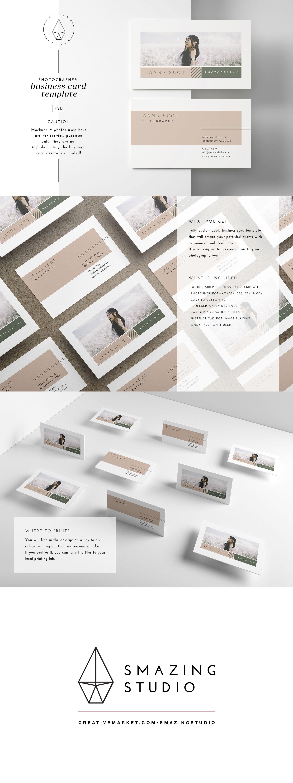Meraki Business Card Template Photography Business Cards Fashion Business Cards Graphic Design Business Card