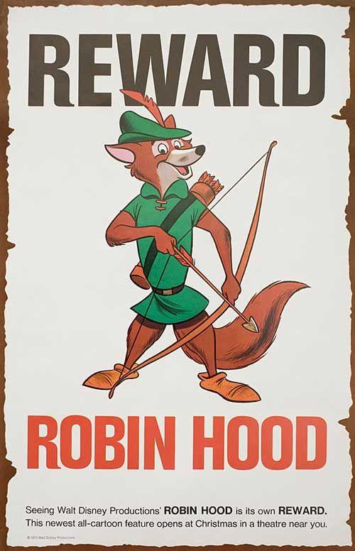 Posteritati: Robin Hood 1973 USA ANSI B (11x17) | Robin ...
