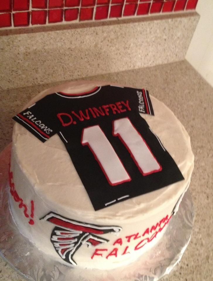 Football jersey cake Atlanta falcons birthday cake Cakes Ive