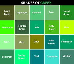 Image Result For List Of Green Colors
