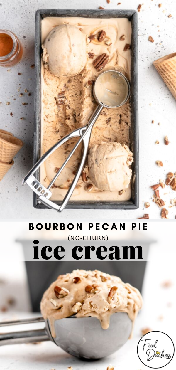 This Bourbon Pecan Pie NO CHURN Ice Cream features an aromatic and warmly flavored pecan pie filling This filling utilizes brown butter brown sugar and of course bourbon...