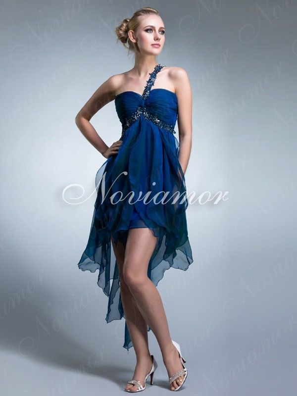 Vestido Azul Solo Hombro DH1037 $236.99 #wedding dress #wedding #vestido #bridal #solo #azul #my wedding #bridal gown #hombro #dh1037