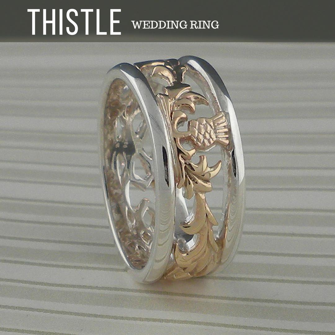 Scottish Thistle Wedding Ring Thistle Wedding Rings Scottish