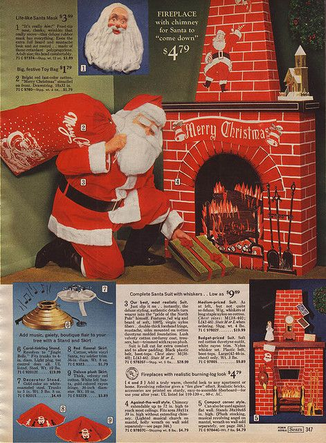 decorative cardboard fireplaces in sears christmas catalog 1969 my parents had one of these - Sears Christmas Decorations