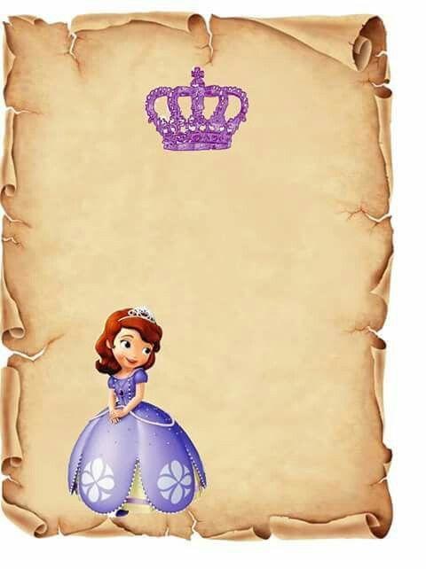 Invitaciones De La Princesita Sofia Como Hacer Invitaciones