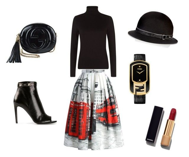 """""""Outfit Of The Day"""" by ivka-x on Polyvore featuring MISCHA, Fendi, Proenza Schouler, rag & bone, Chicwish, Chanel, Gucci, women's clothing, women's fashion and women"""