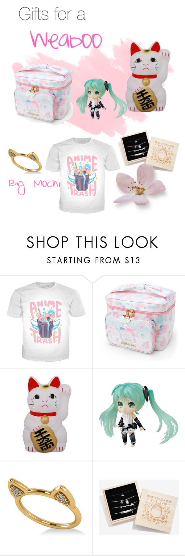 """""""Gifts for a Weaboo"""" by mochi0 ❤ liked on Polyvore featuring Allurez and Studio Ghibli"""