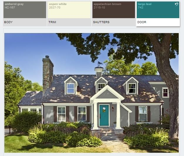 benjamin moore paint color schemes amherst gray hc167