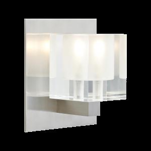Cube Wall Frost Satin Nickel 12 Volt Halogen T20 Tech Lighting Wall Lights Sconces