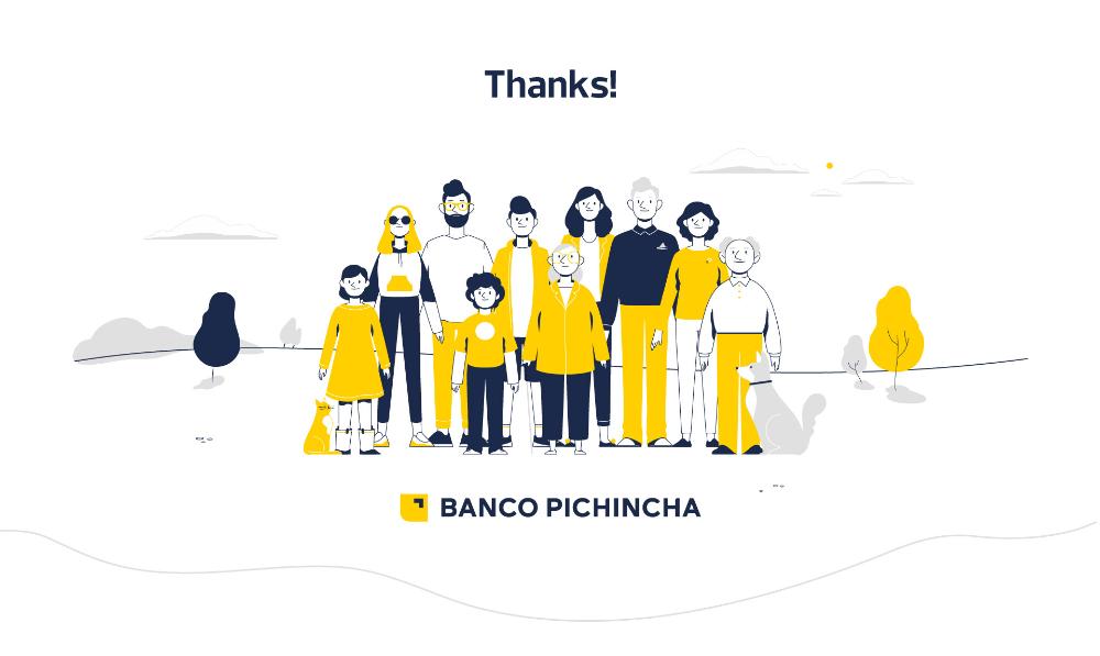 Banco Pichincha Character Design On Behance Character Design Character Illustration Design