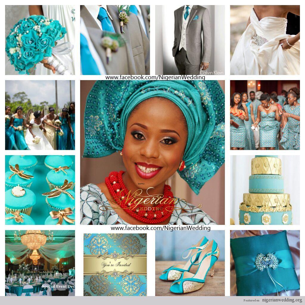 Nigerian Wedding Colors Teal & Gold Teal wedding colors