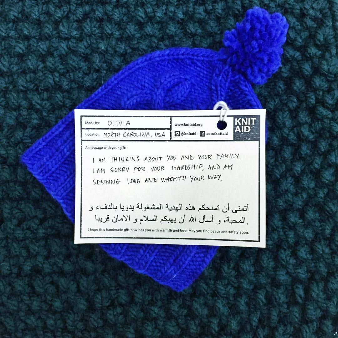 #knitaid #knitaidforrefugees #knitaidmessages #refugeeswelcome""