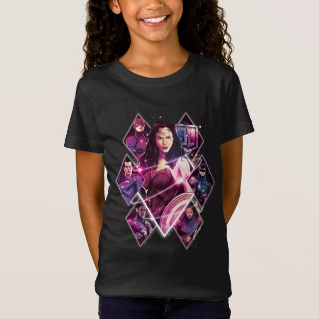 Justice League  Diamond Galactic Group Panels T-Shirt #Sponsored , #Affiliate, #Galactic, #Group, #Panels, #Diamond, #Shop