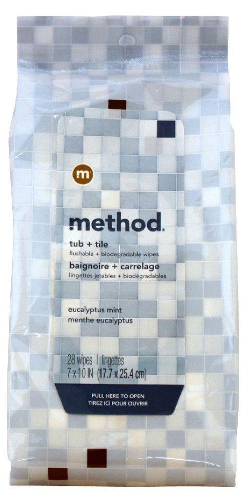 Method Tub & Tile Wipes - Eucalyptus Mint