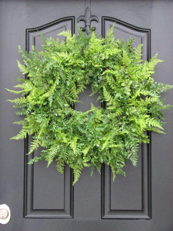 Photo of FERN Wreaths, PATRIOTIC Wreaths, United We Stand Sign, Summer Wreaths, Boxwood, Xl Fern for Year Round, Year Round Wreaths, Etsy Wreaths