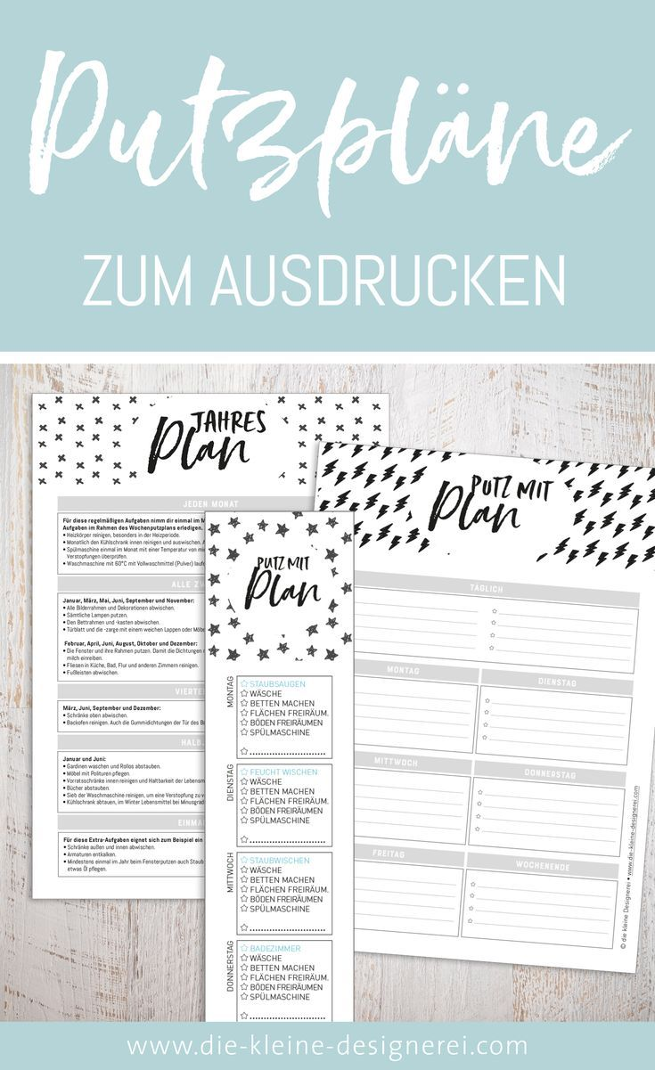 endlich putzen mit plan in diesem package enthalten ist ein t glicher putzplan als checkliste. Black Bedroom Furniture Sets. Home Design Ideas