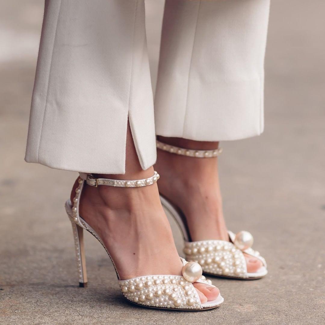 wedding shoes, Pearl shoes, Jimmy choo