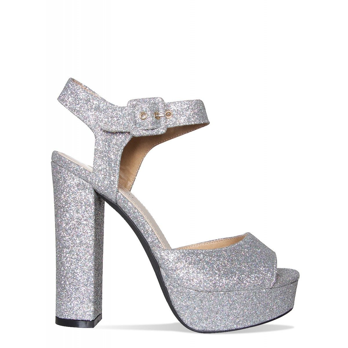 Nessa Silver Glitter Platform Heels : Simmi Shoes | Inspiration ...