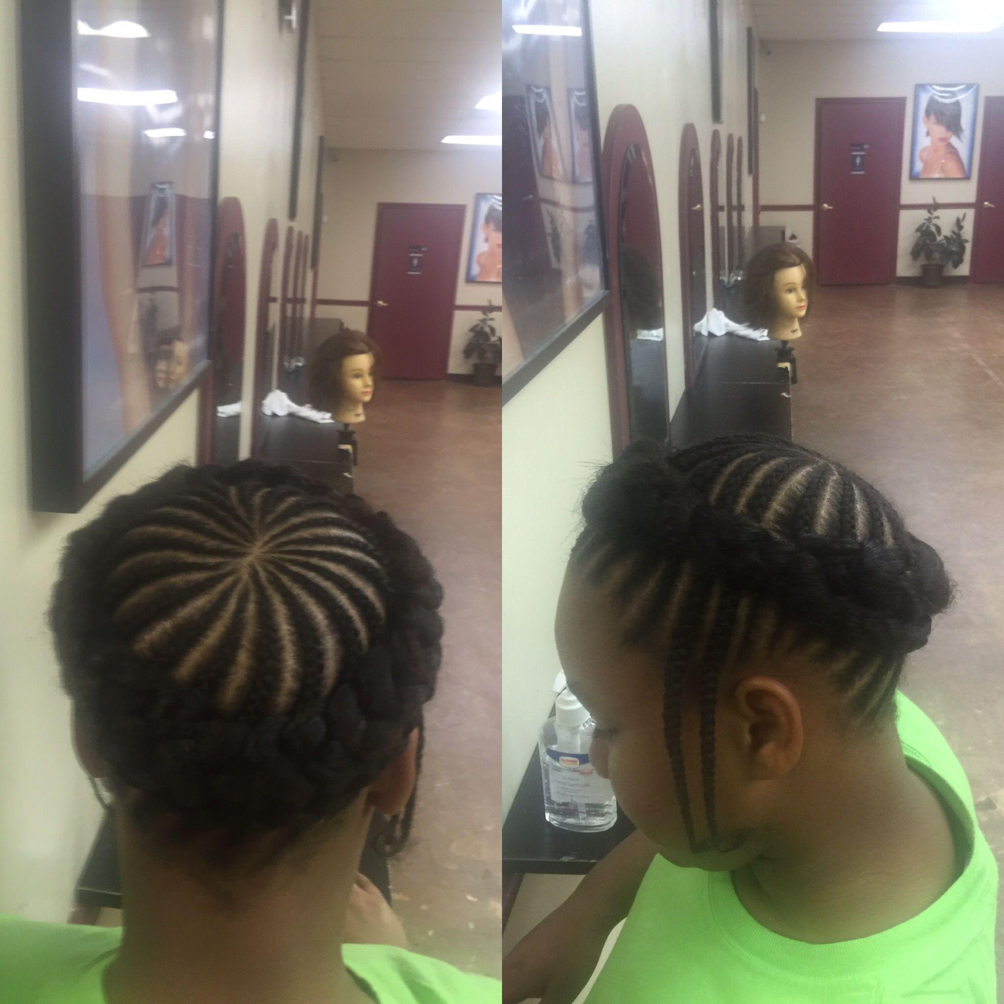 It's Fridia Hair - Swirl Halo Braid - kid braid style - Houston Tx