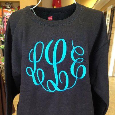 Monogrammed Crewneck Sweatshirts by GoGreekEmbroidery on Etsy ...