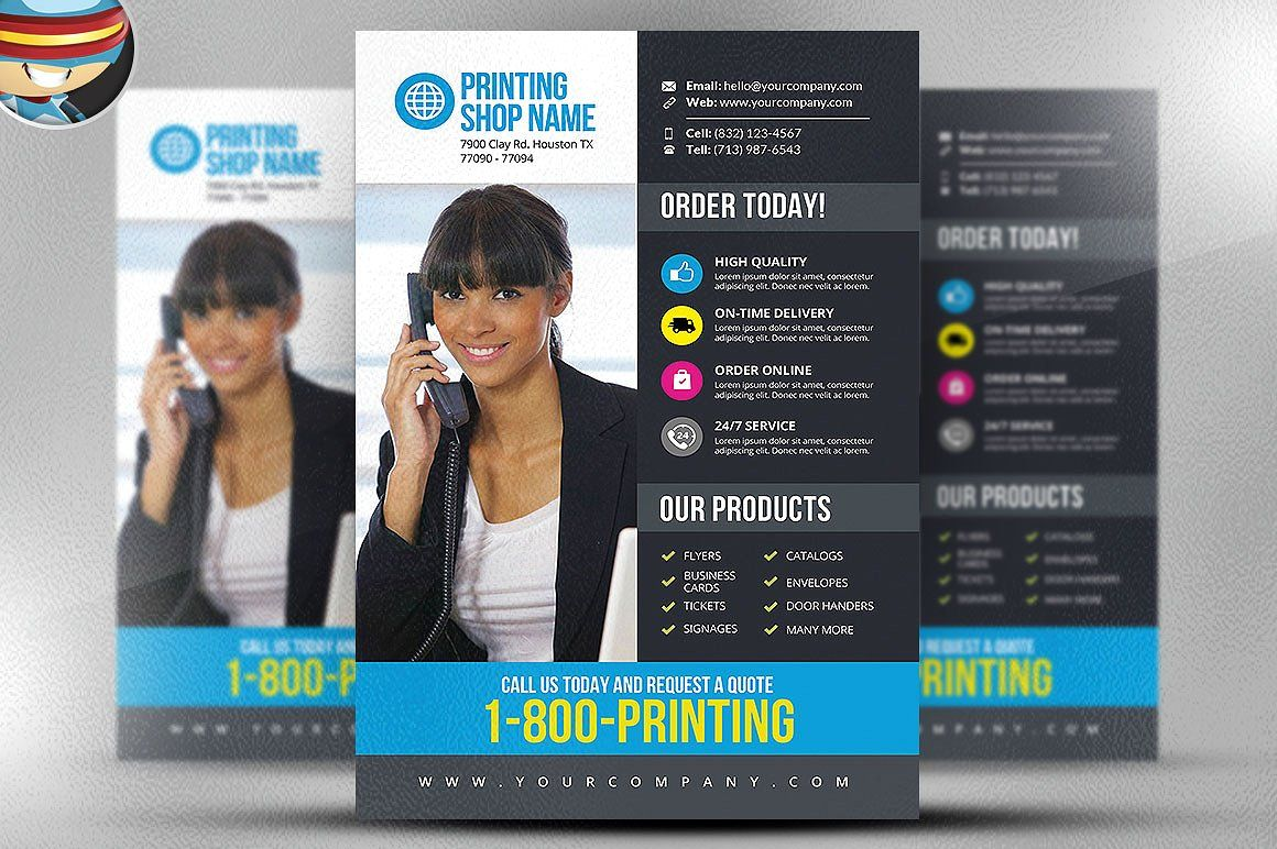 Printing services flyer template by flyerheroes on creativemarket printing services flyer template by flyerheroes on creativemarket creative designs fonts templates themes icons pinterest printing services reheart Images