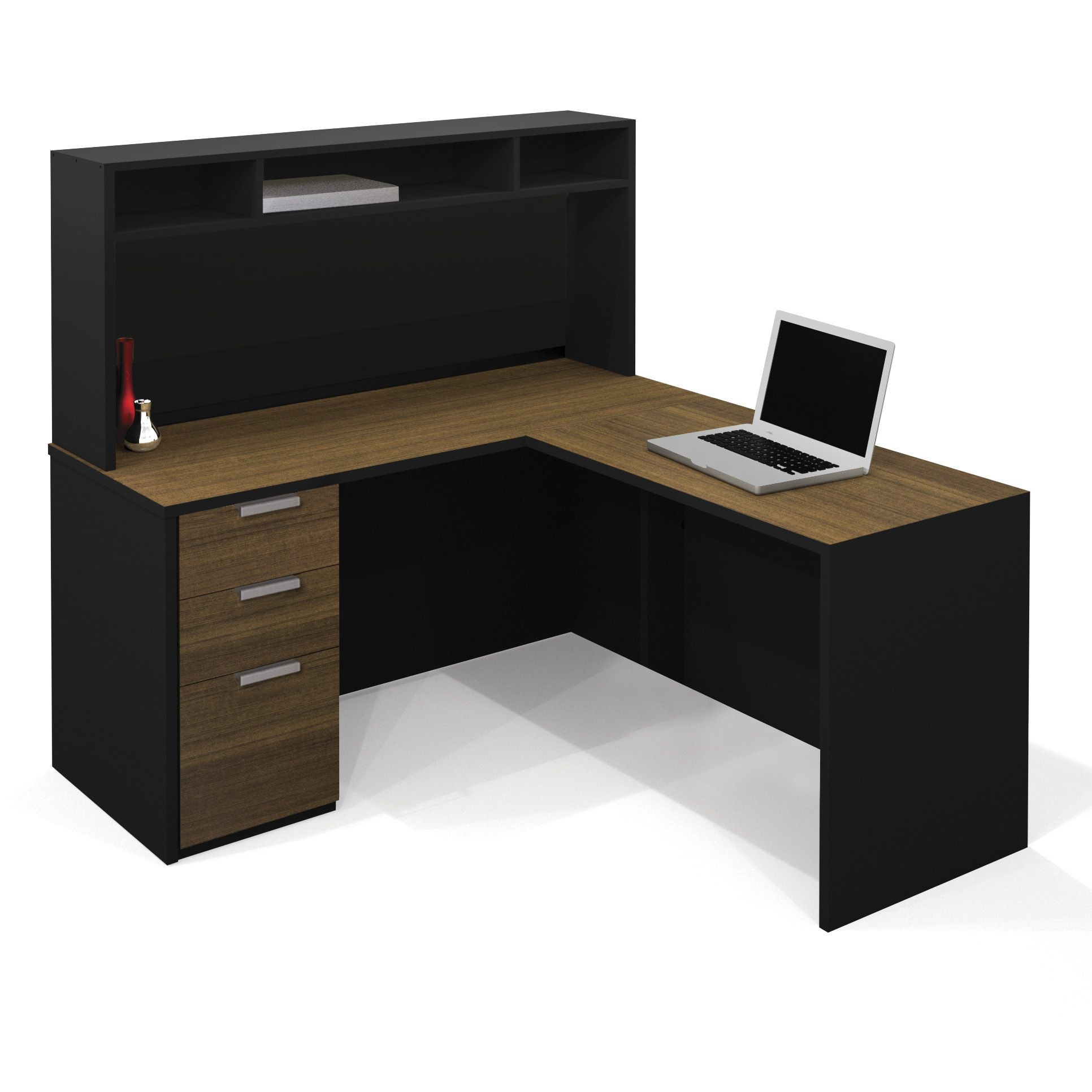 Small L Shaped Desk with Hutch Living Spaces Living Room