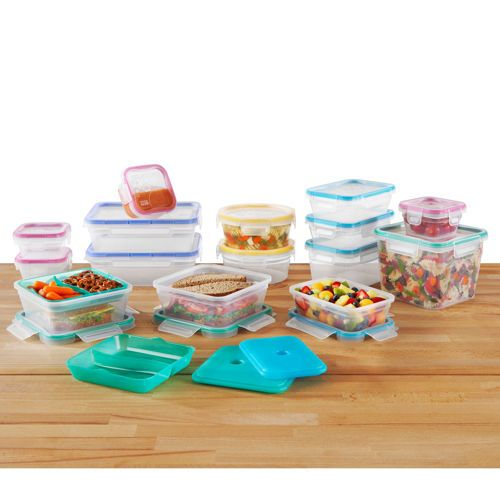 Snapware Total Solution 34 Piece Plastic Food Storage Set Food Storage Set Food Storage