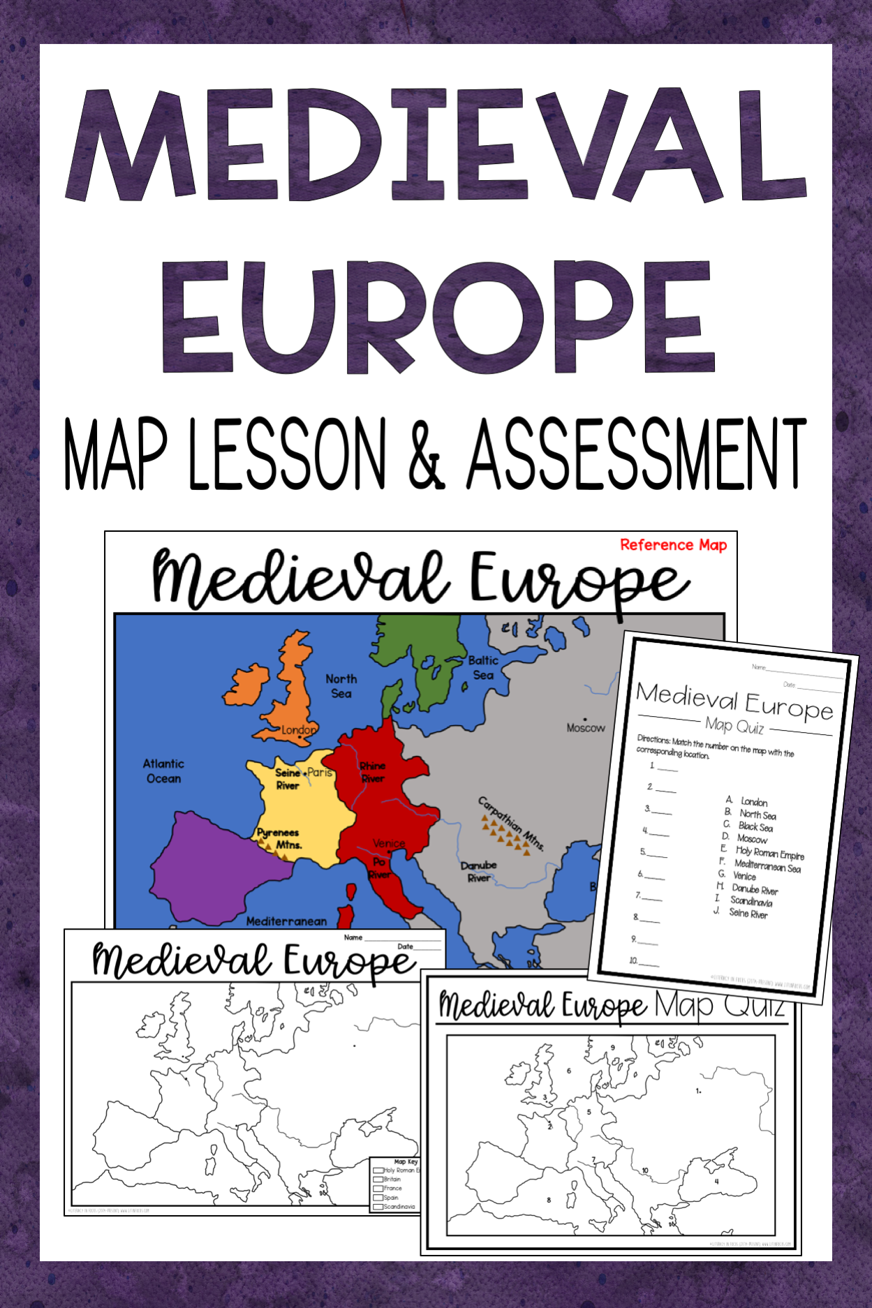 Me Val Europe Map Activity And Quiz