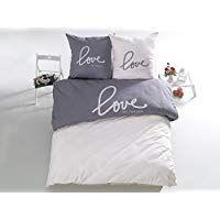 3 Tlg Renforcé Bettwäsche Set Bettdeckenbezug 200x220 Cm Mit 2